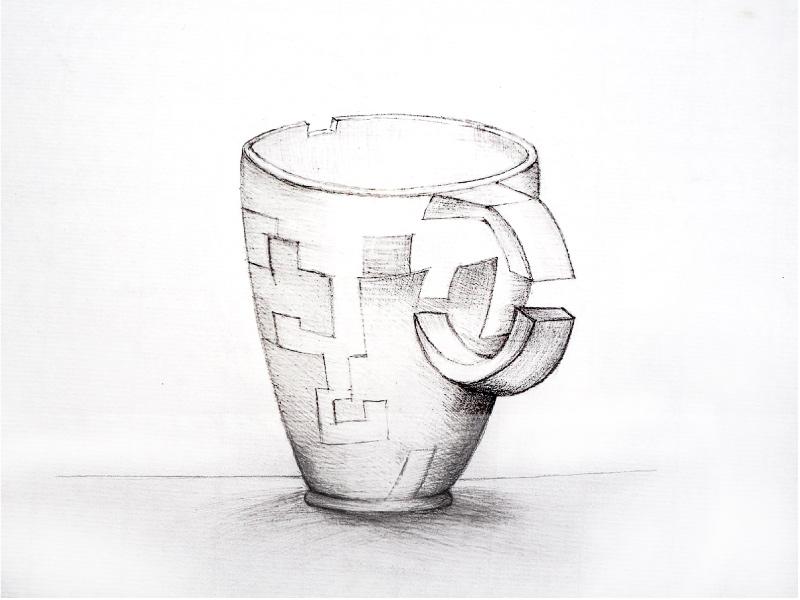 dessiner une tasse à la main