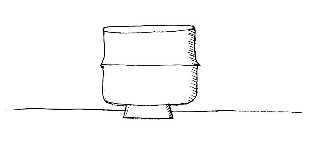 Forme tronc avec lacet