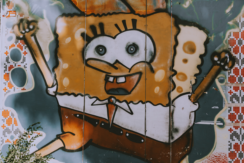 Bob l'éponge graff