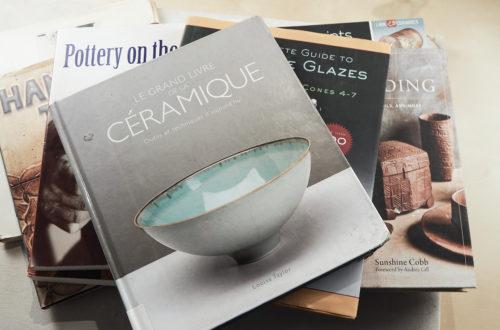 ensemble couverture livres poteries