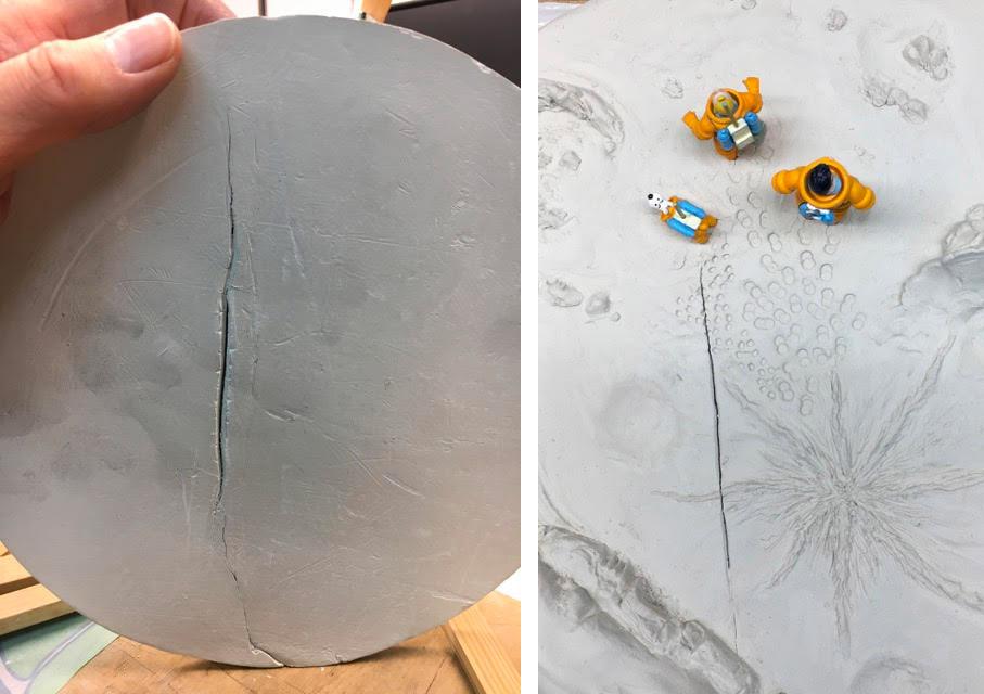 Fissure dans la plaque d'argile