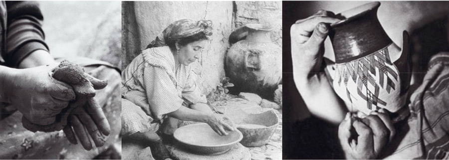 modelage faconnage decor poterie kabyle