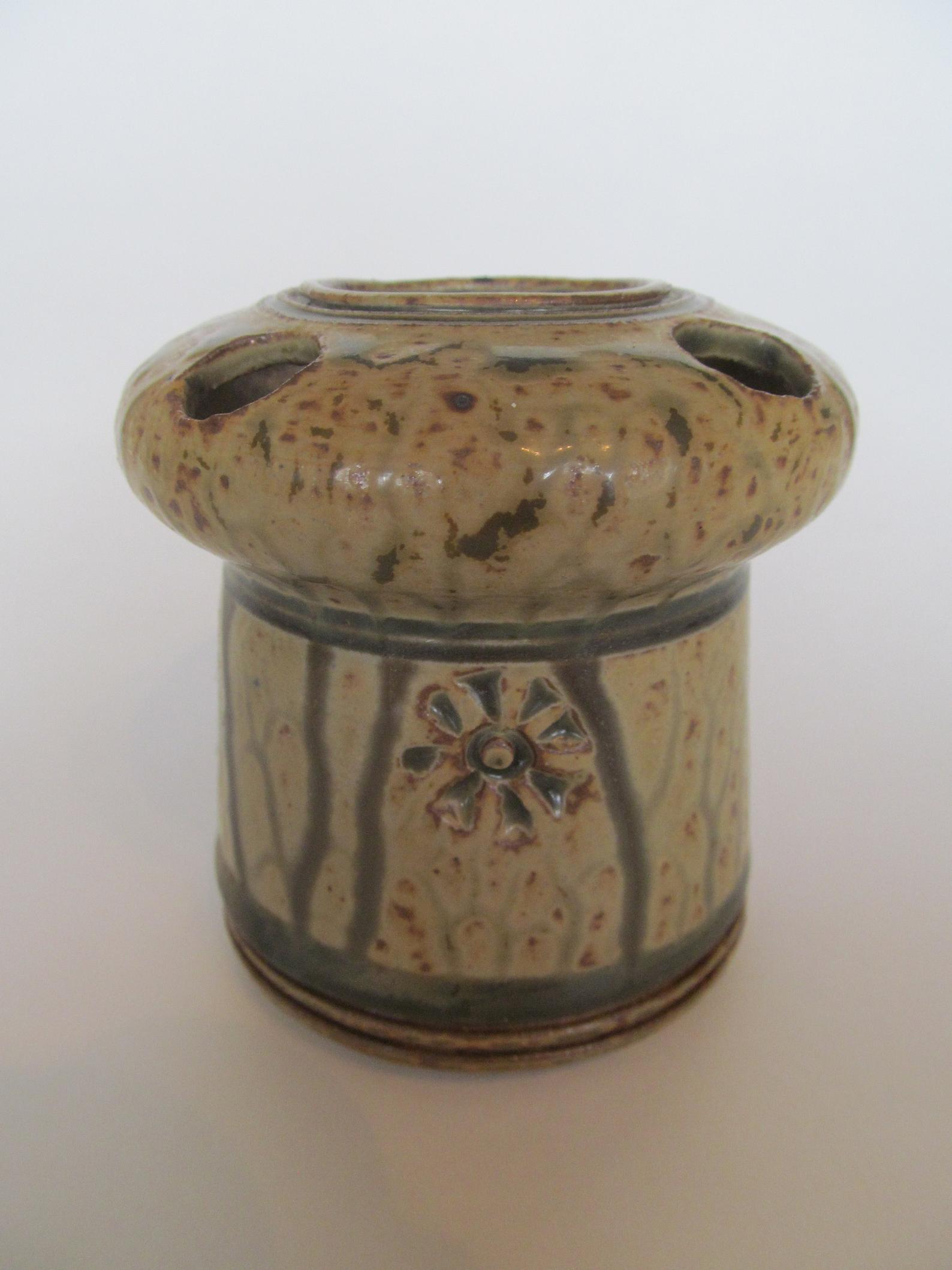 objets originaux en argile : porte brosse à dents emaillé