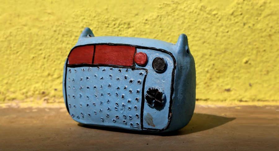 objets originaux en argile : les tirelires