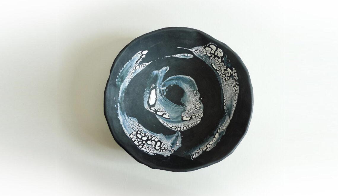 plat décor au pinceau emiliecoquil