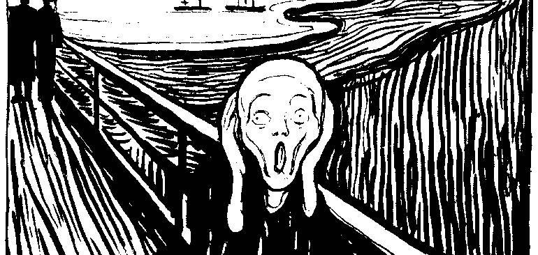 le cri de Munch expression peur