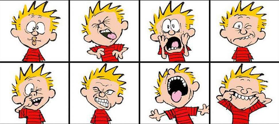 Calvin et Hobbes expressions visages