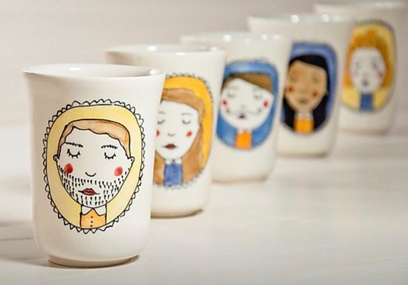 pots en porcelaine - Amandine Daviet
