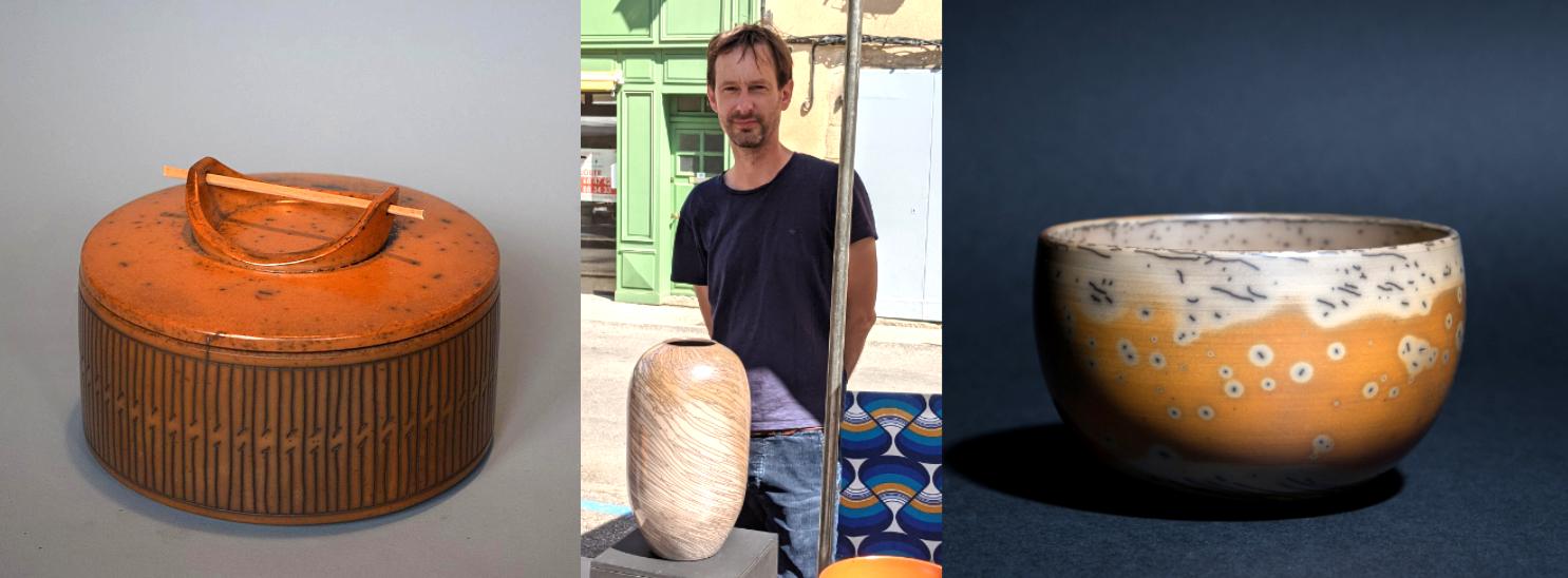 Mathieu Casseau terre sigilée au marché de potiers de Mirepoix