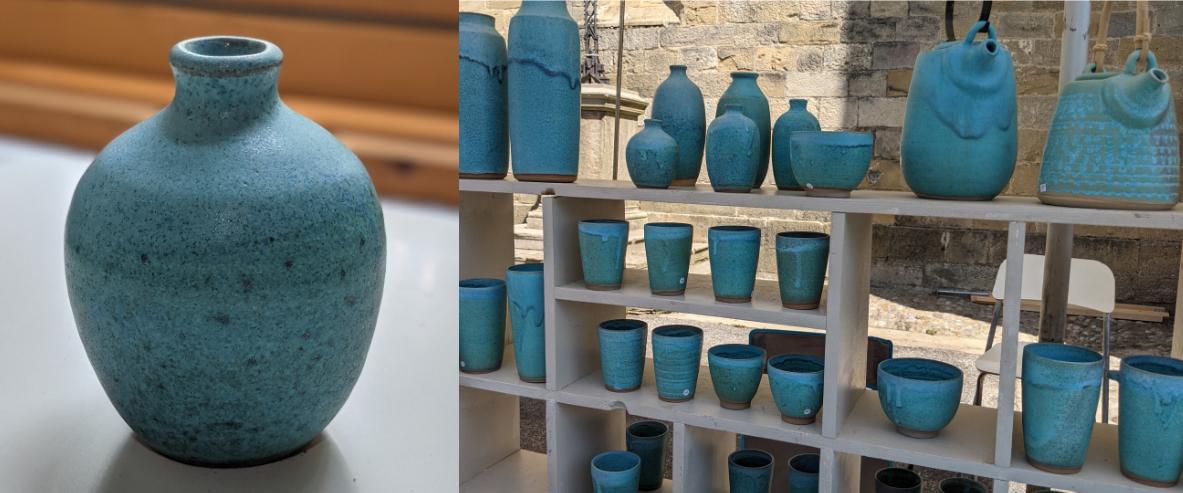 olivier roche poterie au marché de potiers de Mirepoix